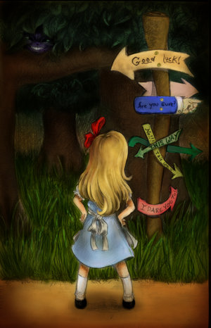 Before Alice got to Wonderland, she had to fall pretty hard down a deep hole.