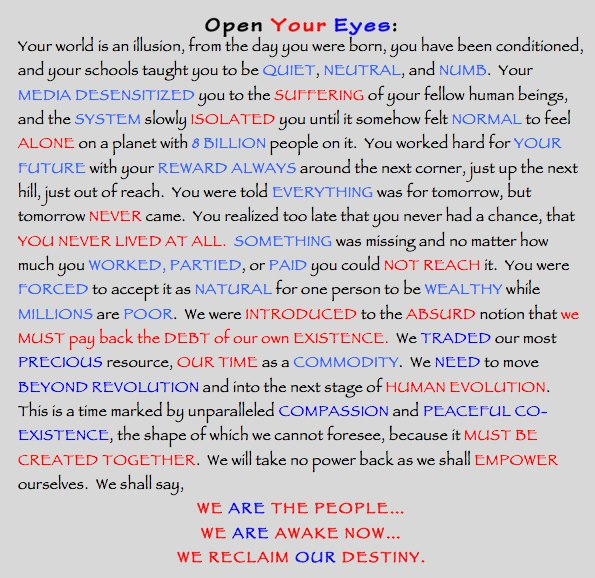 Open your eyes.