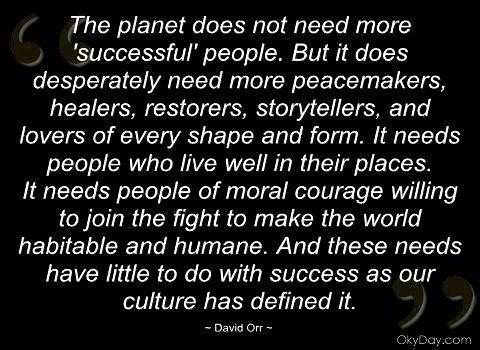 The planet needs YOU.