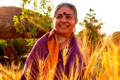 """""""We are either going to have a future where women lead the way to make peace with the Earth or we are not going to have a human future at all.""""  ~ Dr. Vandana Shiva, Physicist and Environmental Activist"""