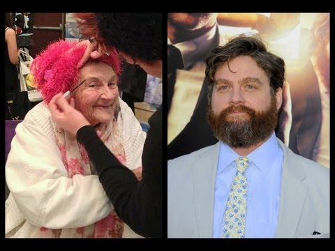 Zach Galifianakis takes the woman he saved from homelessness as his date to the premiere of Hangover 3. What an awesome guy!