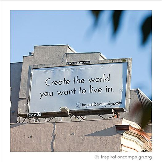 Inspiration Campaign is a non-profit project that uses billboards - not to sell things - but to inspire. They put positive messages in the media to awaken the inner wisdom in us all! The vision is simple: the power of people! People contribute messages. People vote on which messages they'd like to see in the media. People contribute to buy the ad spaces. It's people-powered, and it's empowering-people!