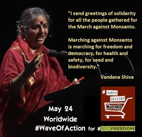 To all the peaceful warriors out there joining the Worldwide March against Monsanto today and to those who boycott Monsanto and their products on a daily basis - Thank you for spreading awareness. Much love, respect, and appreciation!!