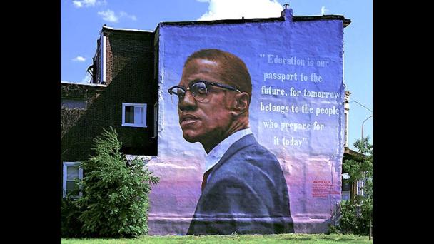 Malcolm mural