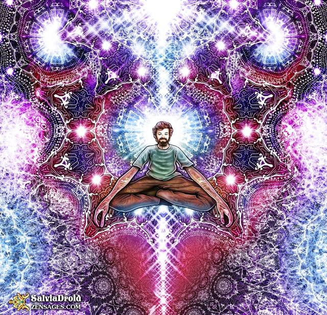 Terence McKenna art by Salvia Droid
