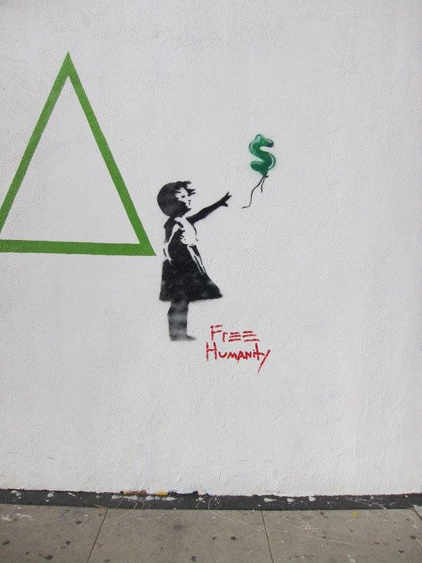 Free humanity street art