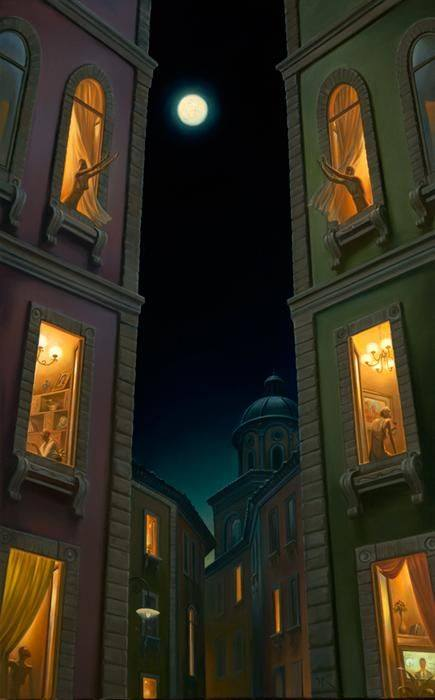 Moon art by Vladimir Kush