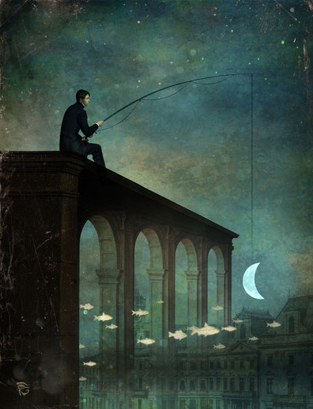 Moon art by Christian Schloe