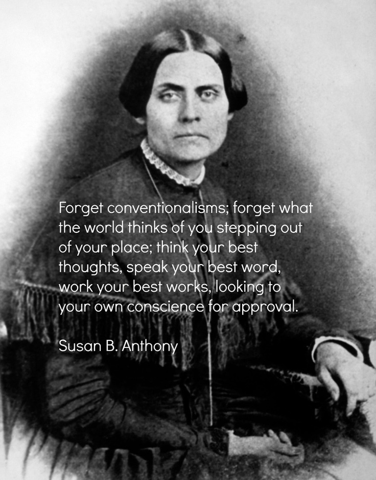 speech susan b anthony Susan b anthony, 1873 speech after having been fined $100 and background: born in massachusetts, susan b anthony as susan b anthony uses it in her speech.
