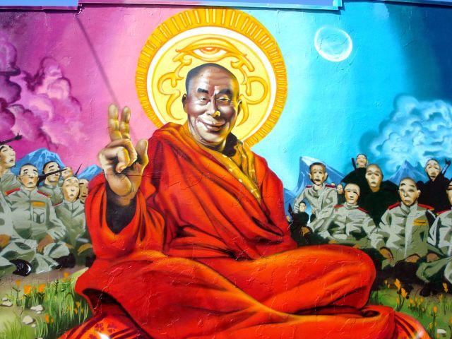 Dalai Lama Street Art