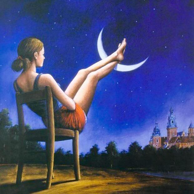 New Moon - Rafal Olbinski