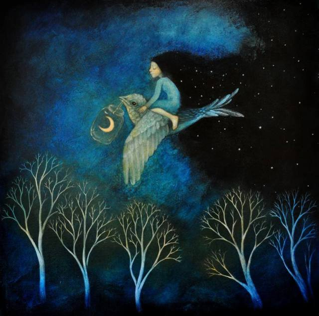 Moon Art by Lucy Campbell