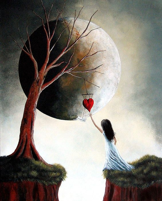 Moon Art by Shawna Erback