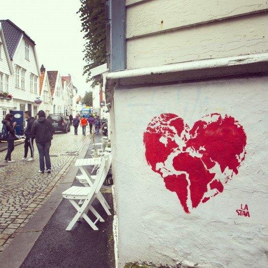 %22One%22 stencil by La Staa in Bergen, Norway