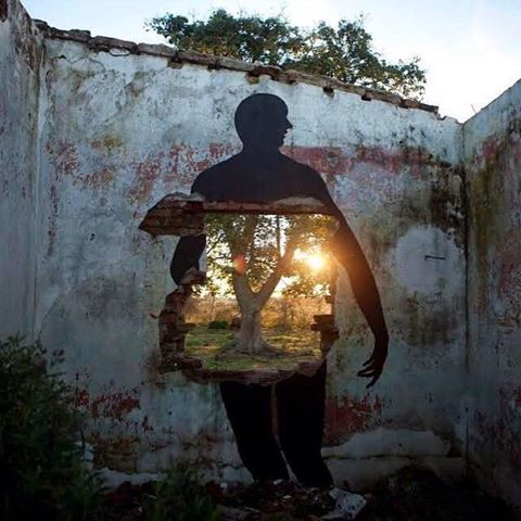 light within street art