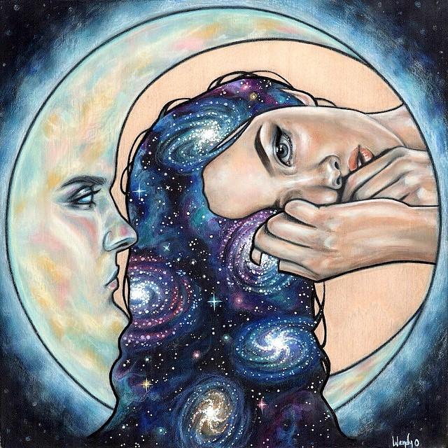 Moon art by Wendy Ortiz