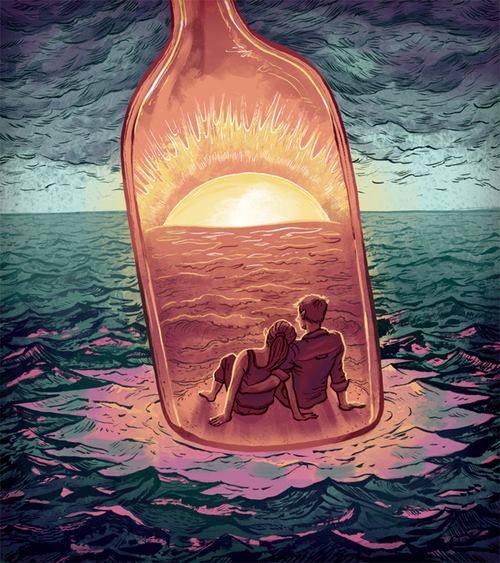 Sunset bottle
