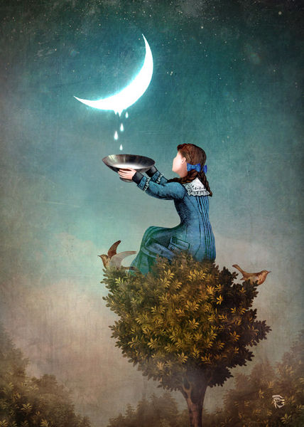 Moon drops by Christian Schloe