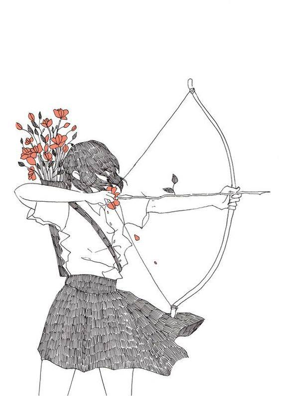 bow and arrow art