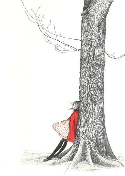 girl in red coat