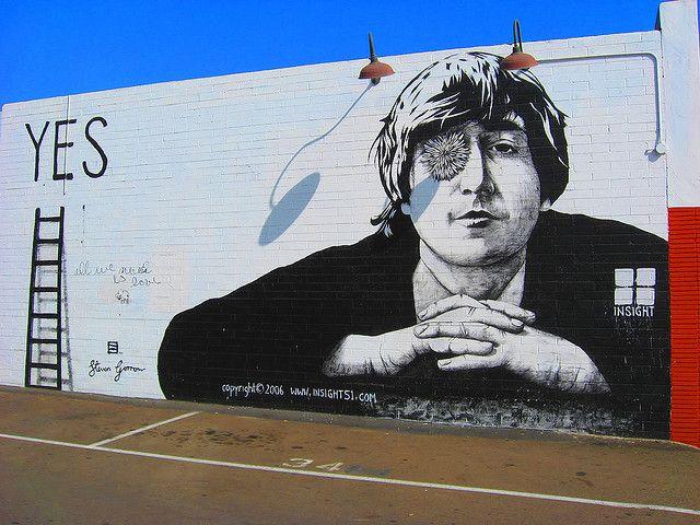 Lennon street art