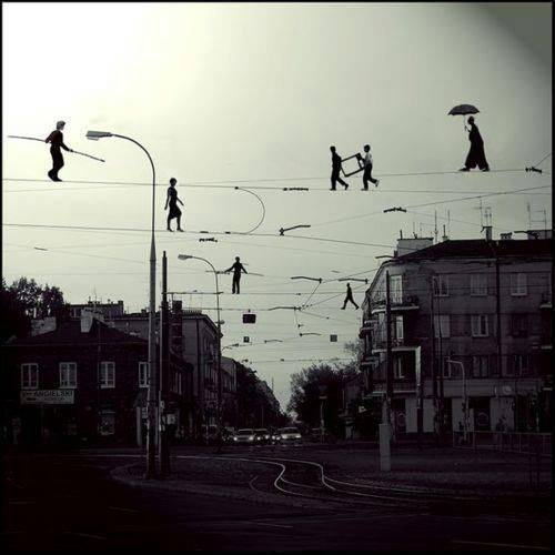 Walk on wires