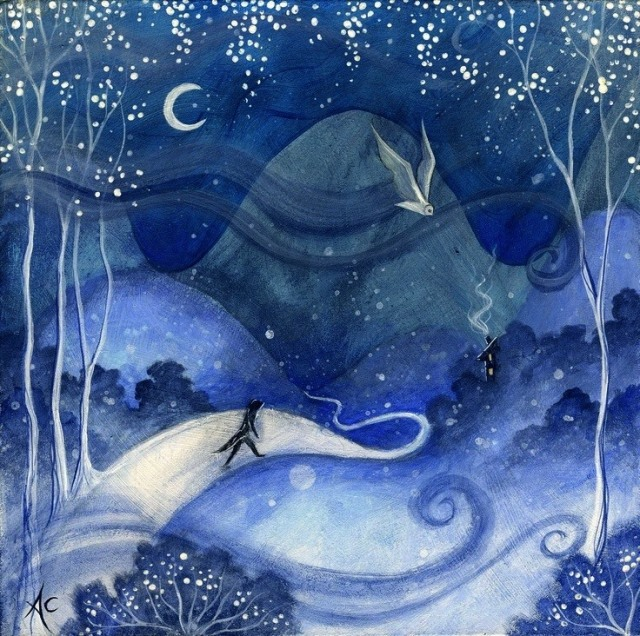 new moon artwork- amanda clark