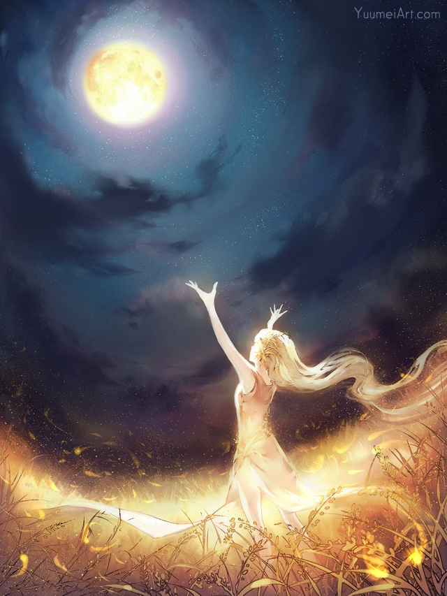 Full Moon Art by Yuumei