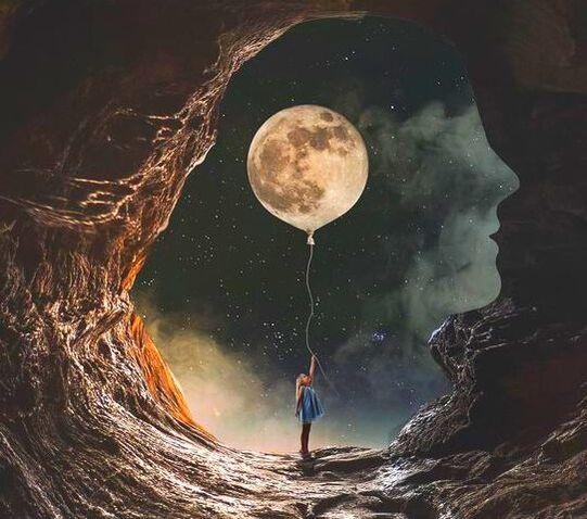 full moon by Natacha Einat