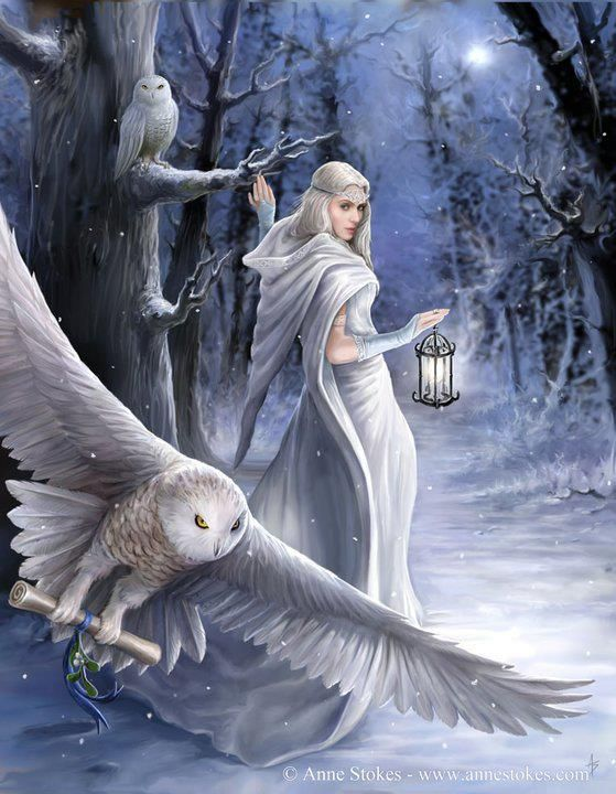 Winter Art by Anne Stokes