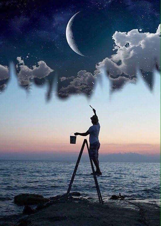 New Moon painter